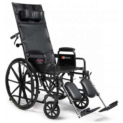 Full Reclining Wheelchair With Headrest High Back Wheelchair