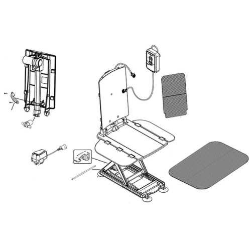 Replacement Parts - AquaJoy Premier Plus Bath Lift