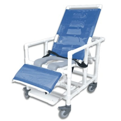 Reclining Bariatric Shower Commode Chair with open seat