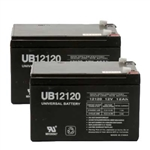 Replacement batteries, 1 Pair, 12V12AH
