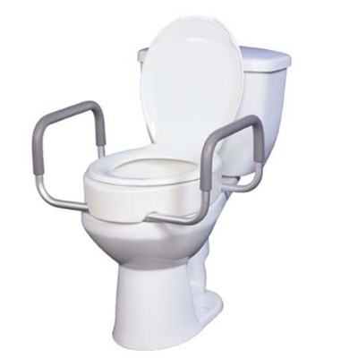 Drive Raised Toilet Seat With Arms.Raised Toilet Seat Fits Standard Toilets Toilet Seat Riser