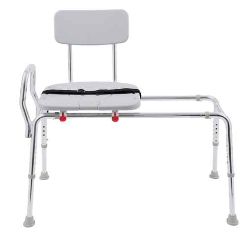 Sliding Transfer Bench with Swivel Seat and Back | Eagle Health Brand
