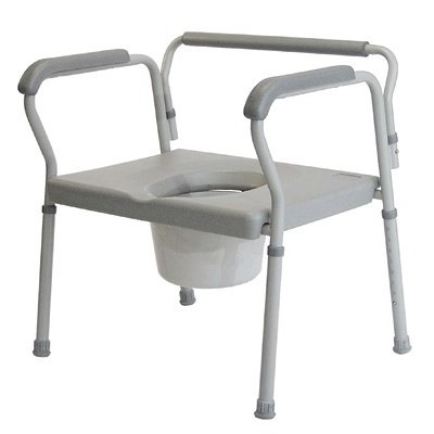 Bariatric 3 in 1 Commode - Heavy Duty Bedside Commode