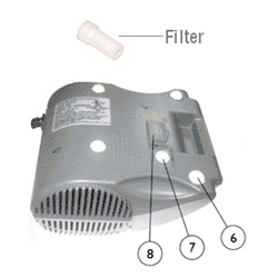 Replacement Filter for Invacare Stratos Nebulizer IRC1710