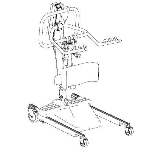 Replacement Parts: Invacare RPS350 Standing Patient Lifts