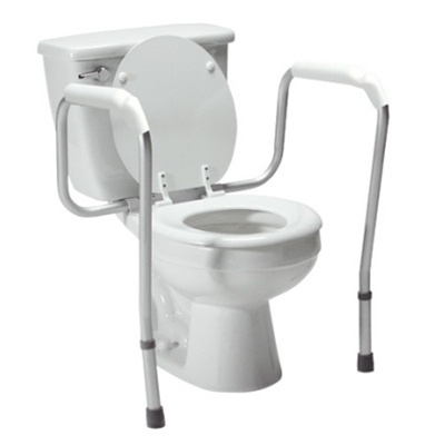 Lumex Versaframe Toilet Safety Frame Commode Arms