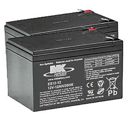 Replacement batteries, Pair of MK 12V12AH