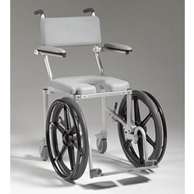 shower with bedside w casters ac aluminum commode padded wheels and healthline amazon dp seat pail com chair
