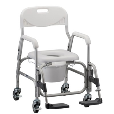 Nova 8801 Deluxe Shower Commode Chair - Commode Chair with Wheels