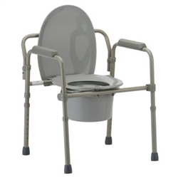 Foldable Steel Commode