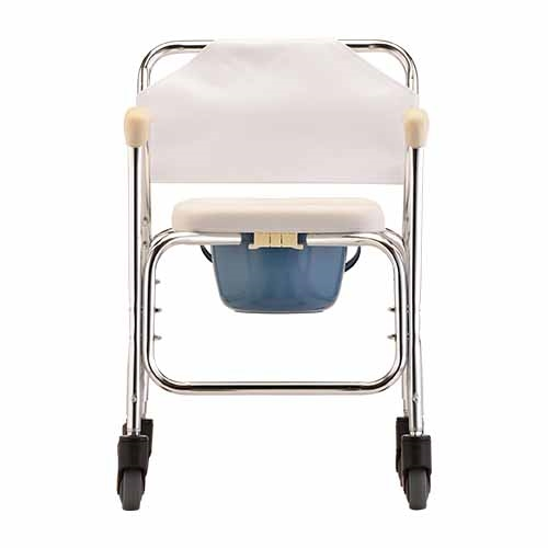 Nova 8800 Shower-Commode Chair with Wheels - Rolling Commode Chair