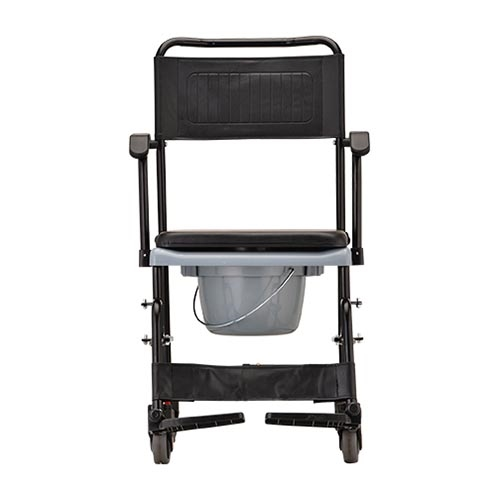 Nova 8805 Drop-Arm Shower Commode Wheelchair - Rolling Shower Chair