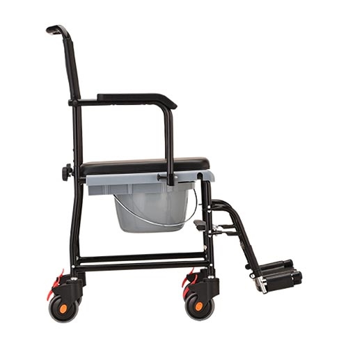 Nova 8805 Drop-Arm Shower Commode Wheelchair - Rolling Shower Chair