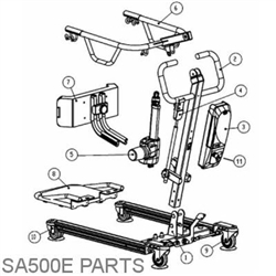 Beststand Sa500 Replacement Parts Bestcare Sit To Stand Lift