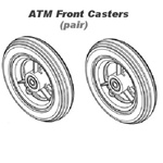 At'm replacement front casters