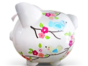 Apple Blossoms piggy bank