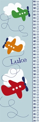 Airplane Personalized Growth Chart