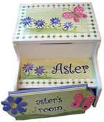 Aster Storage personalized step Stool