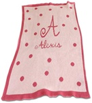 Personalized Blanket Polka Dots Cashmere