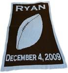 Personalized Blanket Football