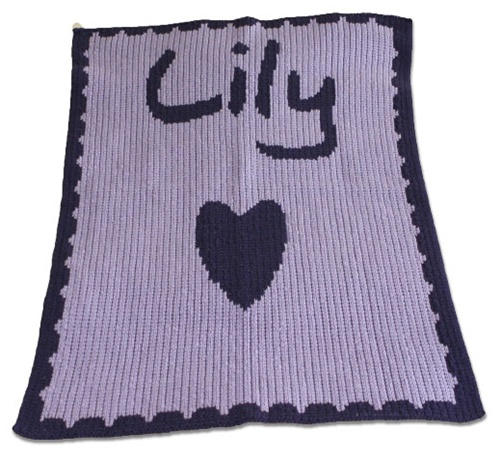 Personalized Cashmere Blanket Heart Baby Blanket With Name