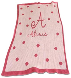 Personalized Blanket Polka Dots