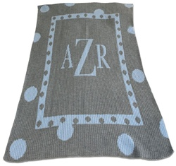 Personalized Blanket Large Polka Dot Monogram