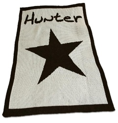 Personalized Blanket with Star Cashmere