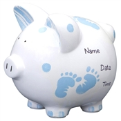 Baby feet piggy bank