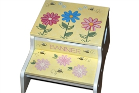 Bees and Flowers storage stool