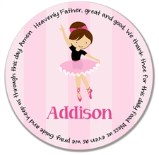 Ballet Stripe Prayer Plate