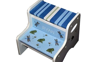 Blue Bugs storage stool