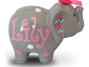 Chevron elephant piggy bank