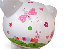 Caterpillar piggy bank