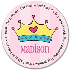 Princess Crown Prayer Plate