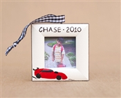 Race car Personalized Photo Ornament