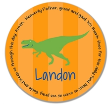 Dinosaur Prayer Plate