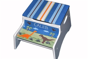 Dino stripe storage stool
