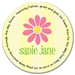 Daisy Stripe Prayer Plate