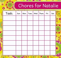 Fancy Flowers Chore Chart