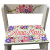 Floral Pink Purple Silver Flip stool