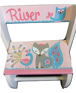 Fiona the fox owl flip stool