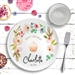 Happy Birthday Ceramic Plate Floral
