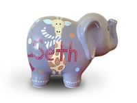 Giraffe elephant piggy bank