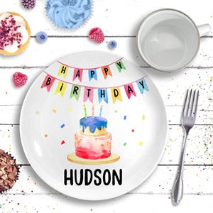 Happy Birthday Ceramic Plate Confetti