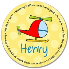 Helicopter Prayer Plate