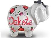 Lady Bug elephant piggy bank
