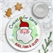 Santa Cookie Ceramic plate personalized green