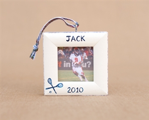 Lacrosse Personalized Photo Ornament