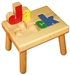 Personalized Puzzle step stool small SOLID wood